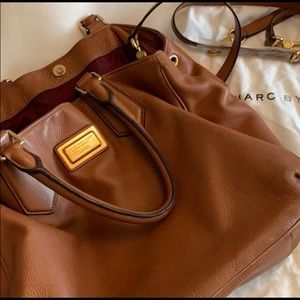 Marc Jacobs Brown Leather Tote Purse Crossbody Bag